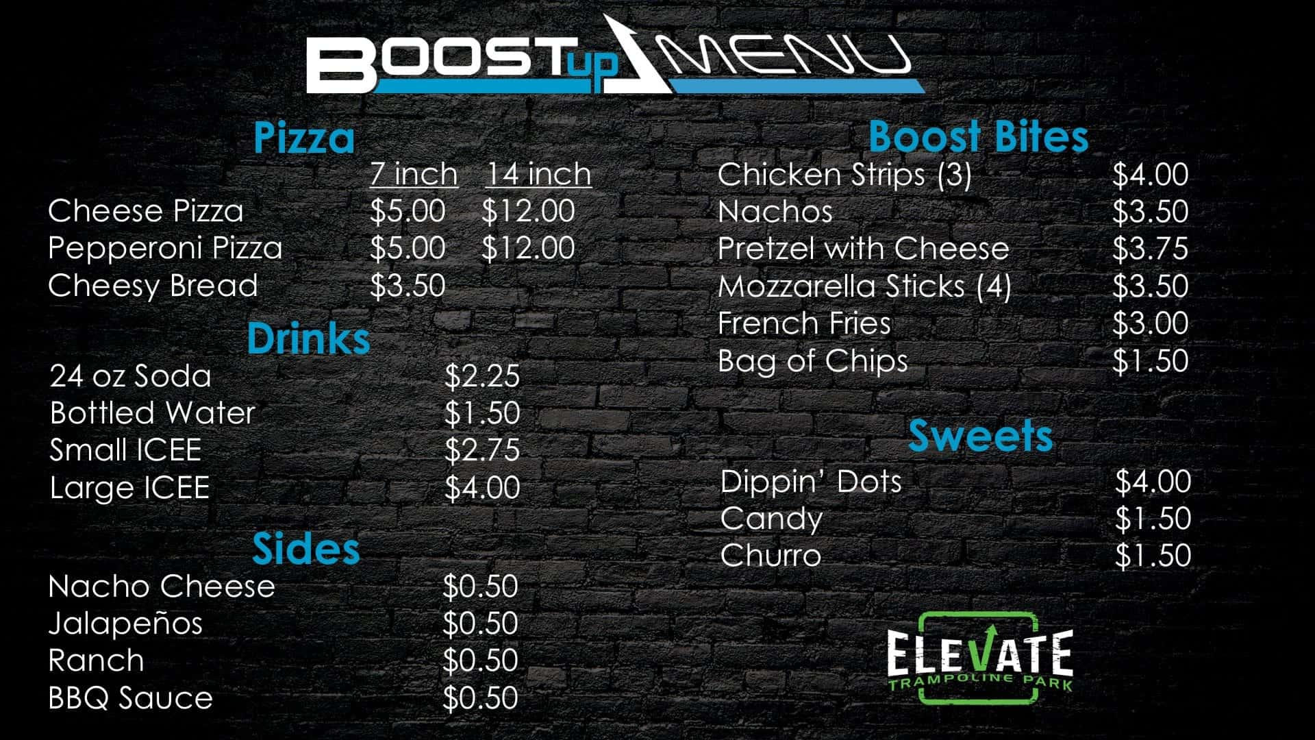 EV8 Goodyear Pricing Menu - Boost Up - 2.28.18